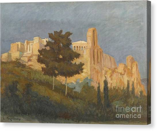The Acropolis Canvas Print - Greek The Acropolis by MotionAge Designs