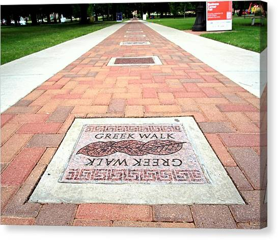 Oklahoma State University Canvas Print - Greek Walk by Buck Buchanan