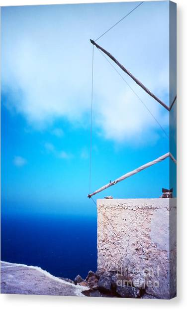 Greek Windmill Canvas Print