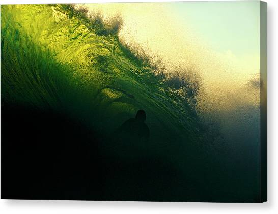 Green And Black Canvas Print