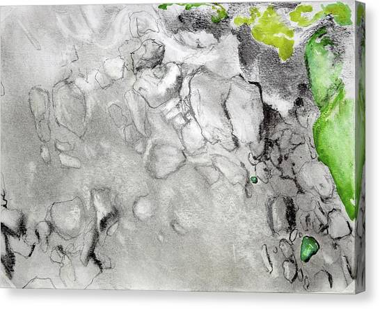 Green And Gray Stones Canvas Print