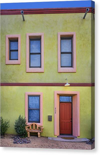 Drain Pipe Canvas Print - Green And Pink - Barrio Historico - Tucson by Nikolyn McDonald