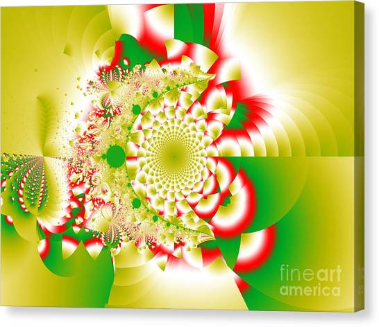 Green And Yellow Collide Canvas Print