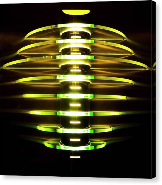 Green And Yellow Light Reflectors Canvas Print
