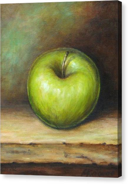 Apples Canvas Print - Green Apple by Mirjana Gotovac