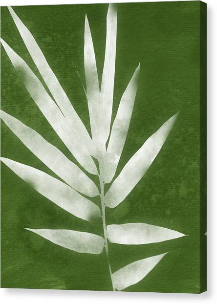 Bamboo Canvas Print - Green Bamboo 2- Art By Linda Woods by Linda Woods