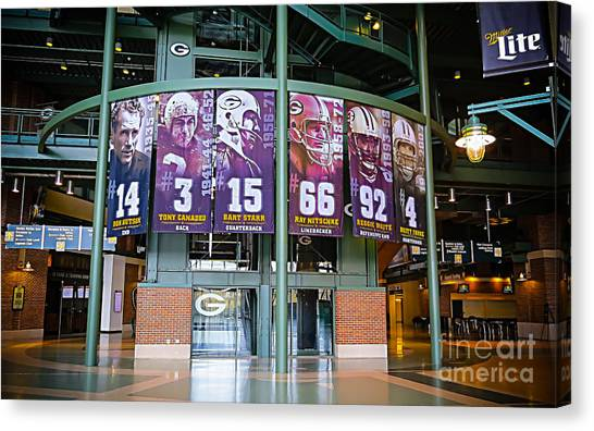 Reggie White Canvas Print - Green Bay Packers Retired Numbers by Stephanie Forrer-Harbridge
