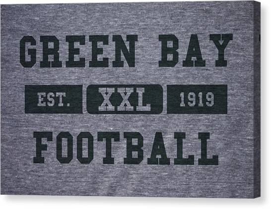 Green Bay Packers Canvas Print - Green Bay Packers Retro Shirt by Joe Hamilton