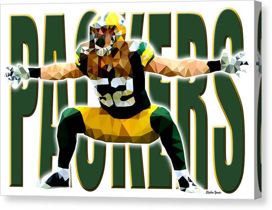 Clay Matthews Canvas Print - Green Bay Packers by Stephen Younts