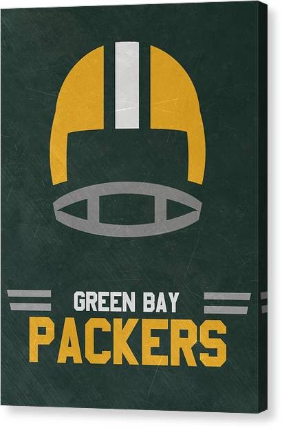 Green Bay Packers Canvas Print - Green Bay Packers Vintage Art by Joe Hamilton