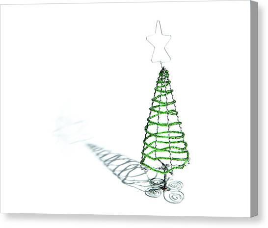 Green Bead Christmas Tree II Canvas Print
