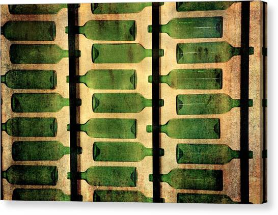 Green Bottles Canvas Print