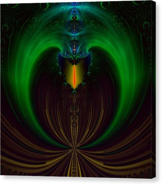 Green Candle Canvas Print by Sfinga Sfinga