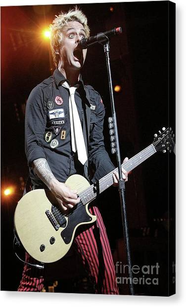 Green Day Canvas Print - Green Day Billie Joe Armstrong by Concert Photos