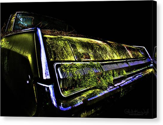 Canvas Print featuring the photograph Green Dodge Glory by Glenda Wright