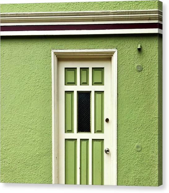 Canvas Print - Green Door Detail by Julie Gebhardt