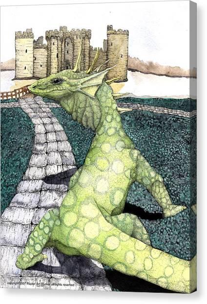 Green Dragon Canvas Print by Preston Shupp