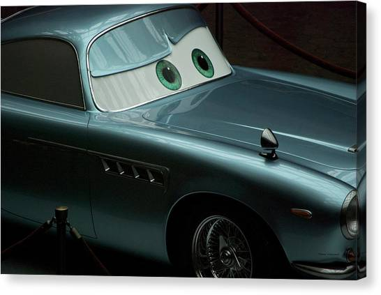 Sports Cars Canvas Print - Green Eyed Finn Mcmissile Mp by Thomas Woolworth