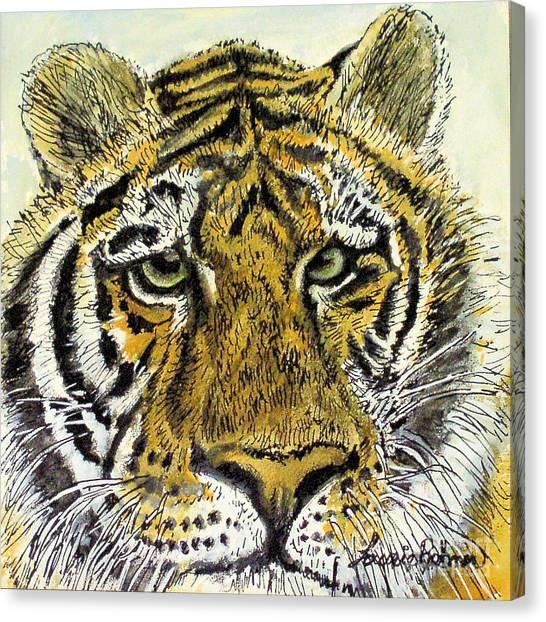 Green Eyed Tiger Canvas Print