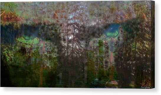 Green Eyes' Reflections Canvas Print by Carole Guillen