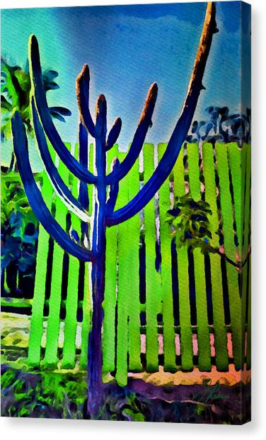 Green Fence Canvas Print