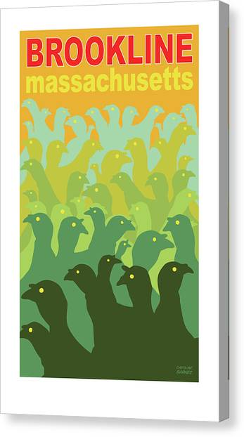 Green Fields Of Brookline Canvas Print