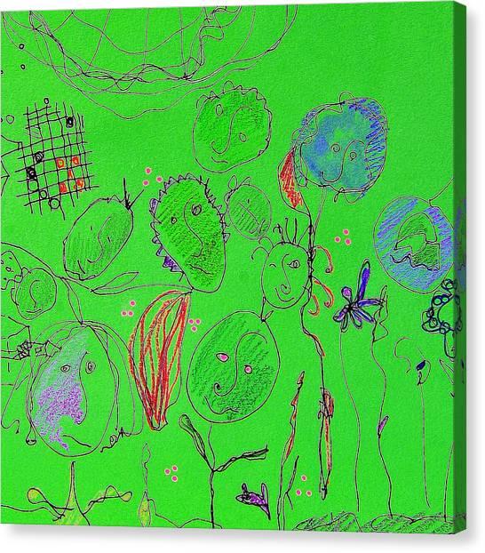 Canvas Print - Green Flower People by Modern Art