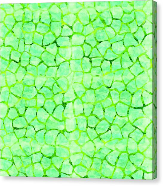 Green Giraffe Print Canvas Print