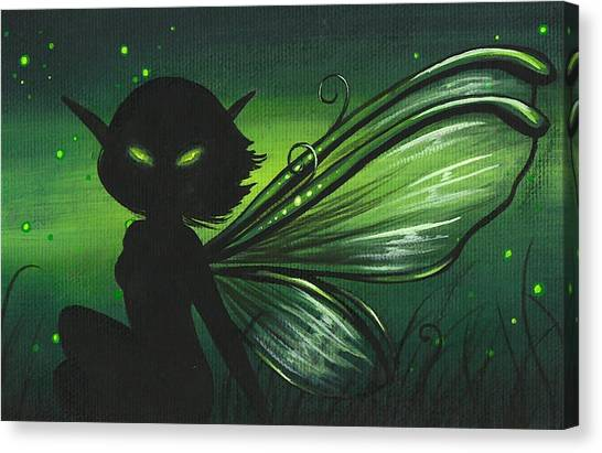 Green Glow Canvas Print by Elaina  Wagner