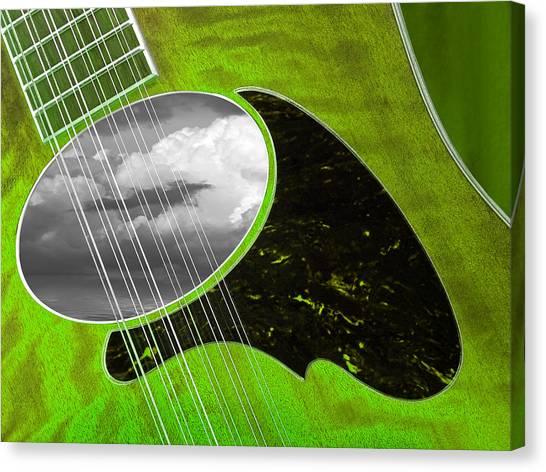 Classical Guitars Canvas Print - Green Grass Blues by Gill Billington