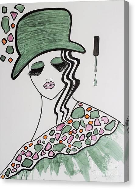 Green Hat Canvas Print