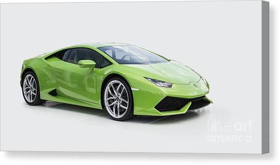Green Huracan Canvas Print