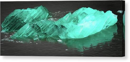 Green Iceberg Canvas Print
