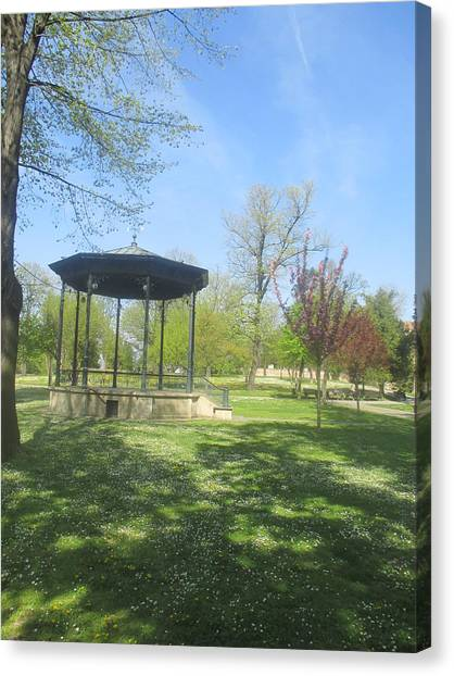 Smallmouth Bass Canvas Print - green Kalemegdan park in Belgrade by Anamarija Marinovic