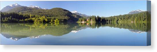 Green Lake Whistler Panorama Canvas Print by Pierre Leclerc Photography