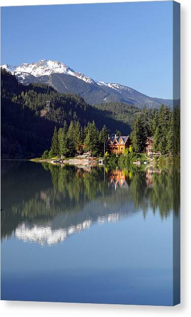 Green Lake Whistler  Canvas Print by Pierre Leclerc Photography
