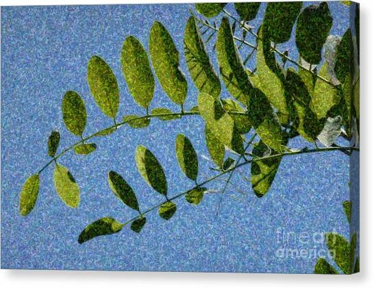 Green Leaves 2 Canvas Print