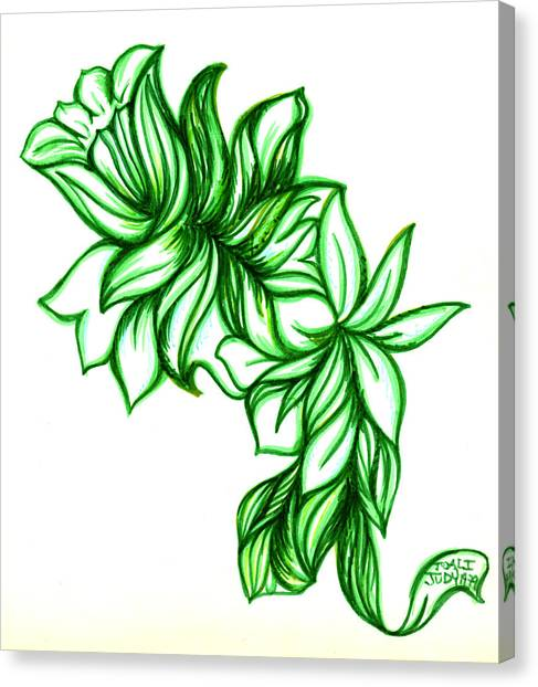 Green Leaves Canvas Print by Judith Herbert