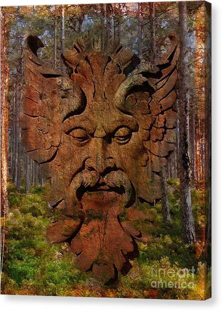 Green Man Of The Forest 2016 Canvas Print