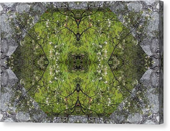 Green Mandala Canvas Print by Viktor Savchenko