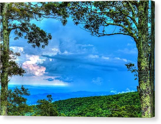 Green Mountain Storm Canvas Print