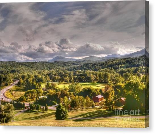 Rutland Canvas Print - Green Mountains Of Vermont by David Bearden