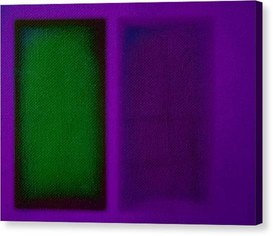 Canvas Print - Green On Magenta by Charles Stuart