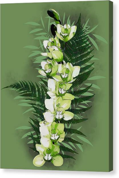 Green Orchid Canvas Print
