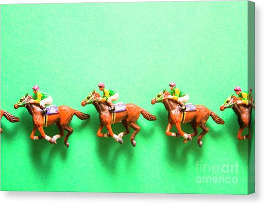 Thoroughbreds Canvas Print - Green Paper Racecourse by Jorgo Photography - Wall Art Gallery