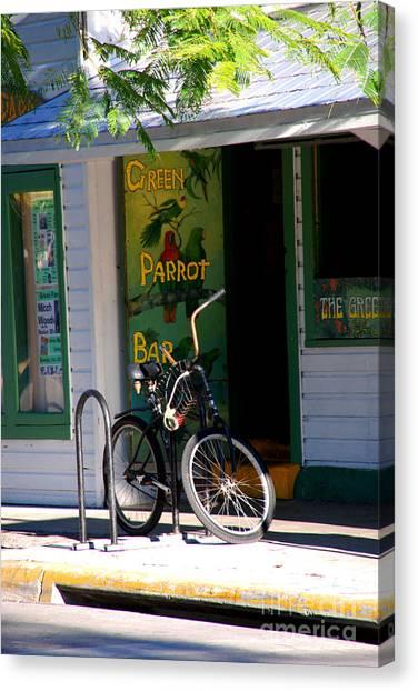 Green Parrot Bar Key West Canvas Print