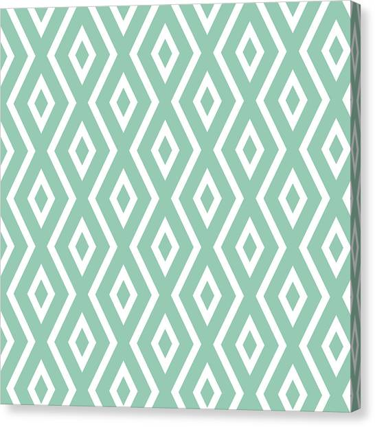 Pattern Canvas Print - Green Pattern by Christina Rollo
