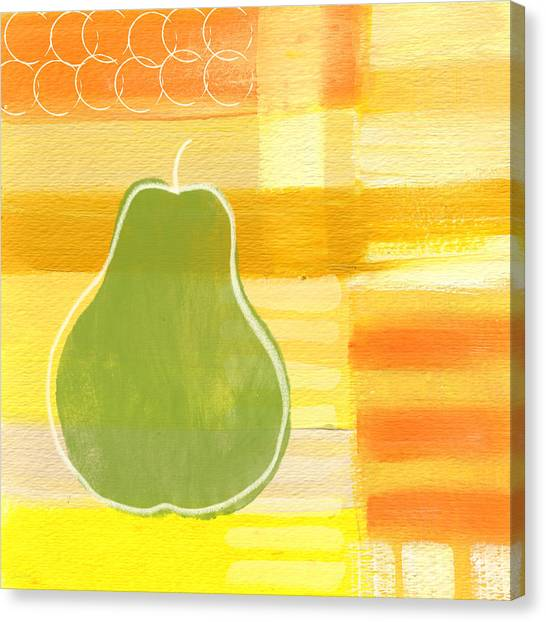 Rolling Stone Magazine Canvas Print - Green Pear- Art By Linda Woods by Linda Woods