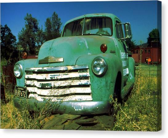 Green Pickup Truck 1959 Canvas Print