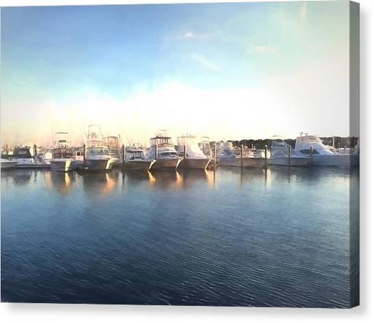 Green Pond Harbor Canvas Print